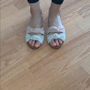 Knot sandals, size 8